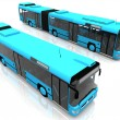 Two blue buses — Stock Photo #6608318