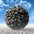 Stone ball — Stock Photo