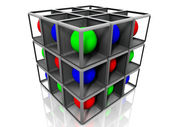 Cube and balls — Stock Photo