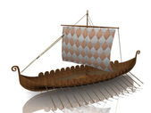The Viking warship on white background — Stock Photo