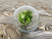 The bubble tree on metal — Stock Photo