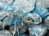 Garbage bags and wastes — Stock Photo