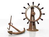 Anchor and navigation bar — Stock Photo
