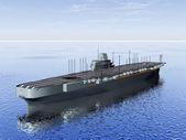 El portaaviones en el mar — Foto de Stock