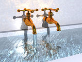 The taps of the bath — Stock Photo