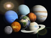 Planets in space — Stock Photo