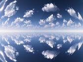 空と雲と反射 — ストック写真