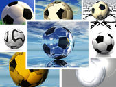 Footballs — Stock Photo