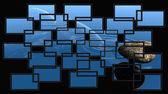 Montado de telas de uma imagem — Foto Stock