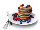 Sweet pancakes with berrys — Stock Photo