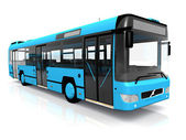 Blue bus — Stock Photo