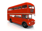 A red traditional London bus — Stock Photo