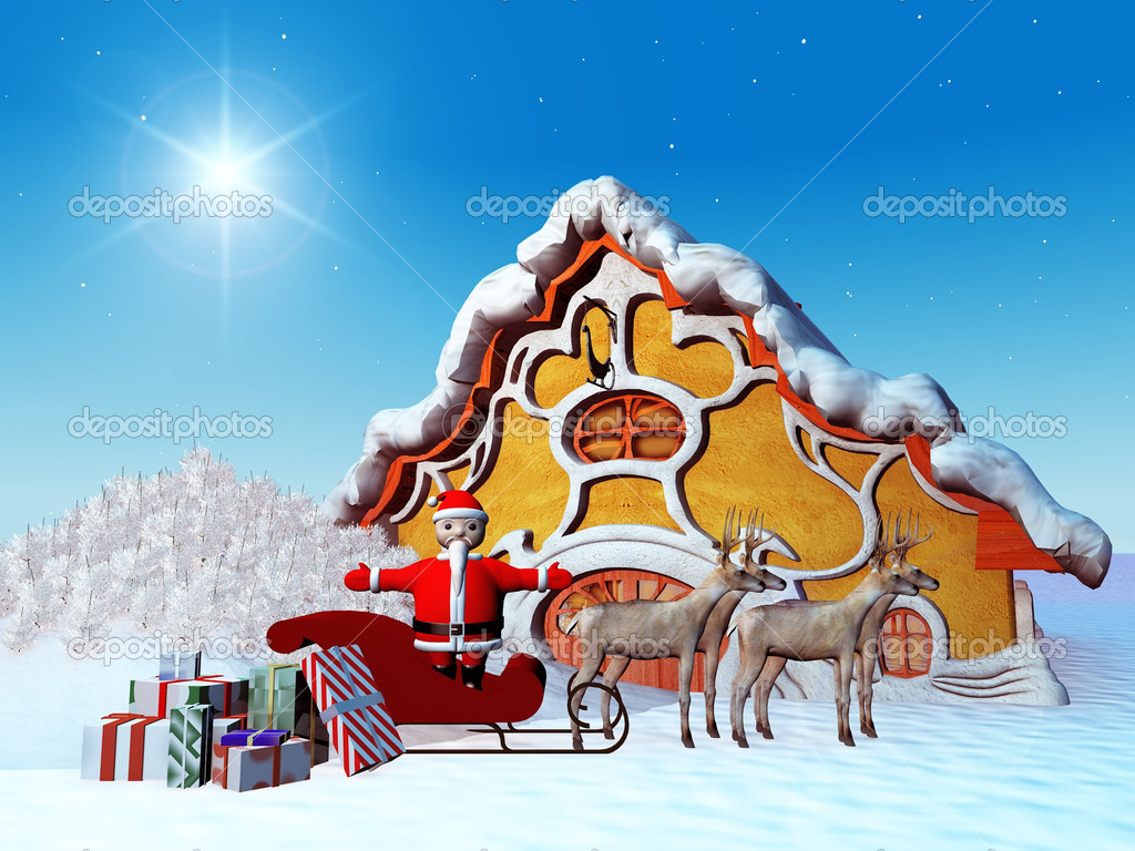 Santa Claus with presents — Stock Photo #6607993