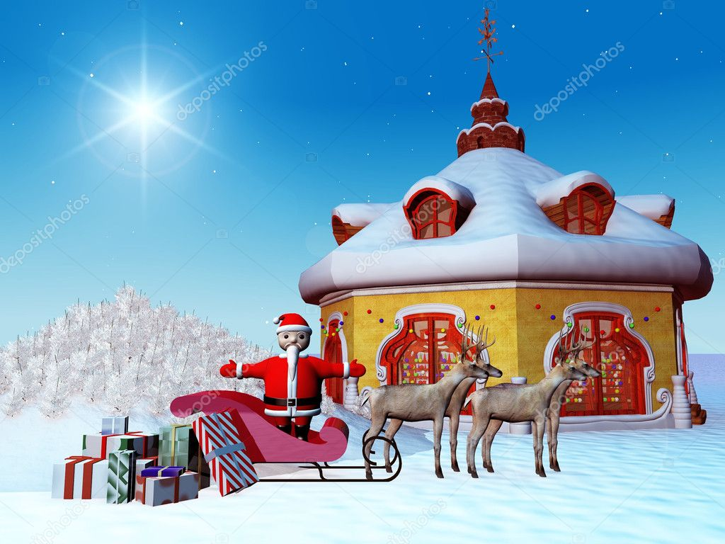 Santa Claus with presents — Foto de Stock   #6608000