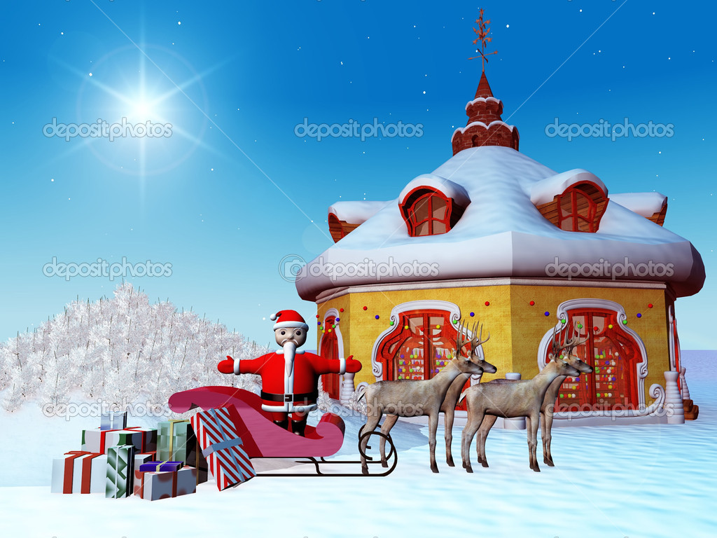 Santa Claus with presents — Stockfoto #6608000