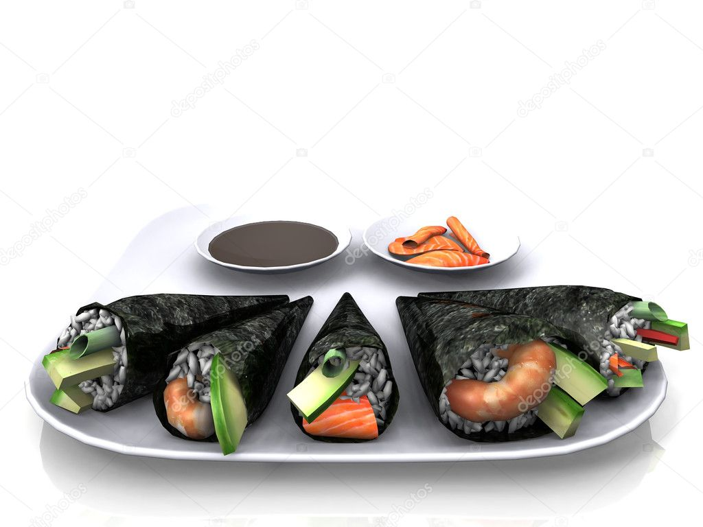 Sushi - traditional japanese food — Stock Photo #6608213