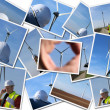 Site manager of wind turbine — Stock Photo