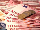 Ten euro European Union Currency — Stock Photo