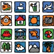 Tourism-icon-set — Stock Vector