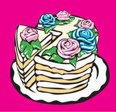 Sweet cake. — Stock Vector