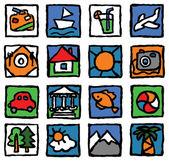 Tourism-icon-set — Stock Vector