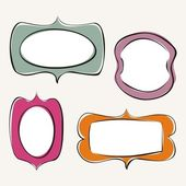 Conjunto de fotogramas dibujados a mano doodle — Vector de stock