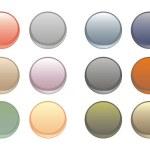 samling av vektor Tom glödande, färgglada cirkulär web knappar — Stockvektor