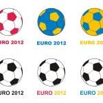 Euro 2012 soccer championship balls — Stock Vector #6688061