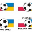 Soccer - Euro 2012 Poland Ukraine — Stock Vector