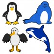 Vector de stock : AntarcticAnimals