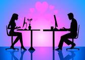 Virtuální láska — Stock vektor