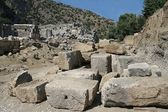 Excavations in ancient city of Myra — Stock Photo