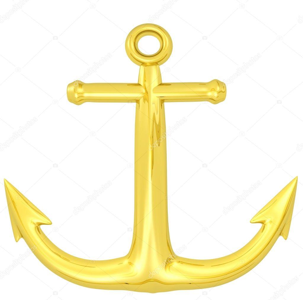 3d gold anchor photo - photo #7