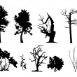 Royalty-Free Stock Vector Image: Tree vector silhouettes