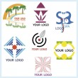 Stock Vector: Logos set in vector
