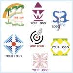Logos set in vector — Stock Vector