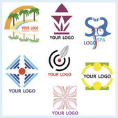 Logos set in vector — Stock Vector