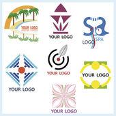 Logotyper i vektor — Stockvektor
