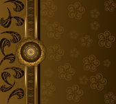 Floral luxury background — Vector de stock