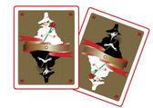 Fairy dame van liefde en lady van verdriet kaarten — Stockvector