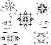 Set di elementi floreali — Vettoriale Stock