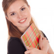 Happy student with a notebook — Stock Photo #6740841