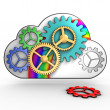 Cloud computing infrastructure — 图库照片