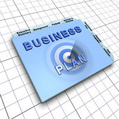 Business plan document: Process of planning ahead for success — Foto Stock
