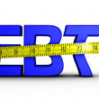 Reducing debt — Stock Photo