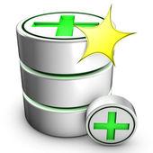 New database creation — Stock Photo