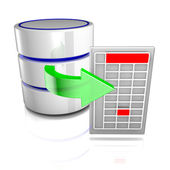 Export data from a database — Stock Photo
