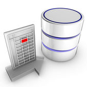 Import data to a database — Stock Photo