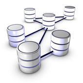 Database network — Stock Photo