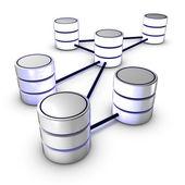 Database network — Stock Photo